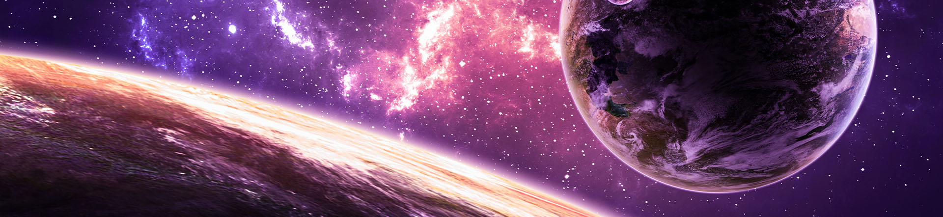 Tough Shift Romance Novel Banner with Space and Planets